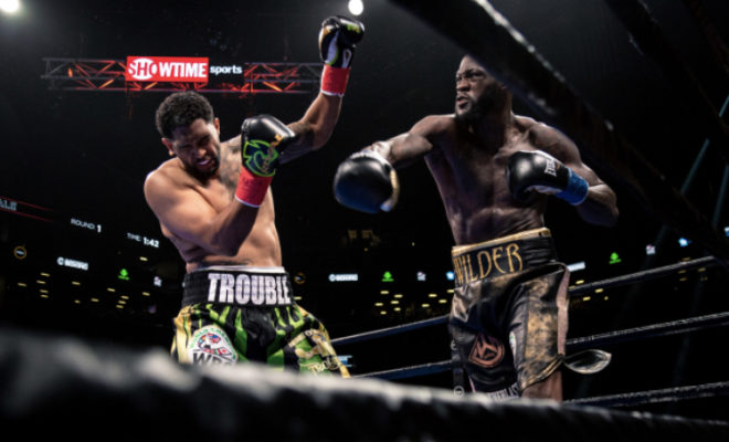 Deontay Demolition Wilder Right Hand Crumples Breazeale In First
