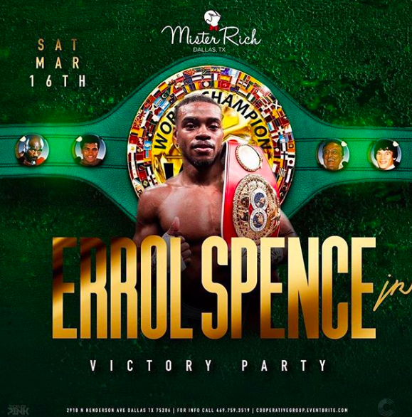 Errol Spence is maybe the best welterweight in the world.