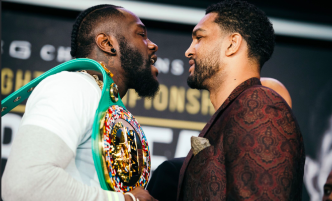 Wilder and Breazeale face off, days before their clash at Barclays Center.