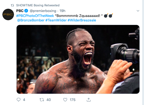 Kelsey gave his vote to Wilder, and who made the Bomb Squad happy with his detonation on Breazeale's head.