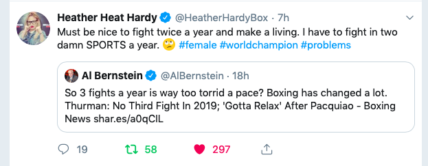 Heather Hardy juggles boxing and MMA, so she can earn enough to fund living in NYC.