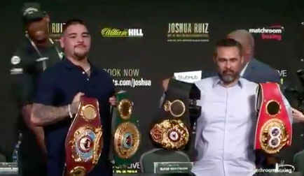 Classy hitter Anthony Joshua is showing Americans he is a respectful competitor, as he hands his four belts to Ruiz and Robles.