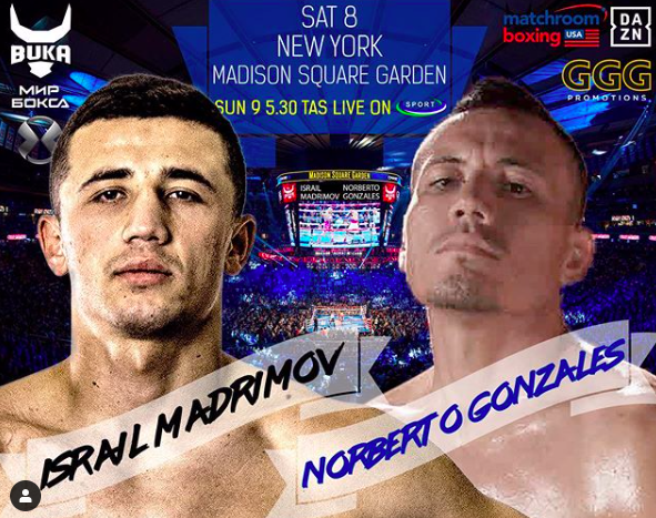 Madrimov had his way with Gonzalez on June 8, 2019, at Madison Square Garden in NY.