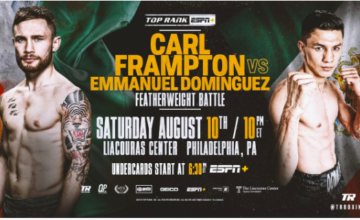 Frampton headlines on ESPN+ in August, 2019.