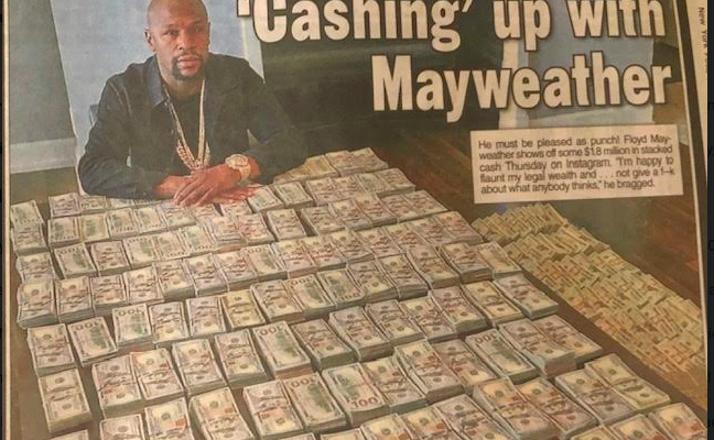 Floyd Mayweather story in the July 7, 2019 edition of the NY Post.