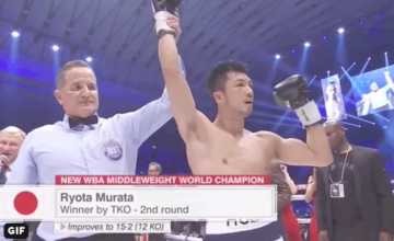 Ryoto Murata regained his WBA 160 crown when he stopped Rob Brant in Japan.
