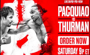 Will you lay a bet down on Pacquiao vs. Thurman? Check out the odds, here, on NYFights.