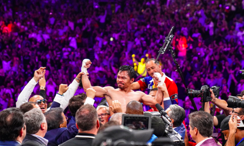 Manny Pacquiao, fine at 40, beat 30 year old Keith Thurman July 20, 2019 at MGM. (Sean Michael Ham pics)