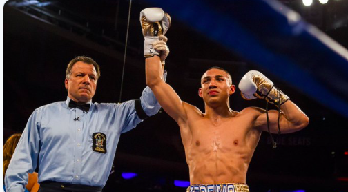 Mikey Williams pic of a victorious Teofimo Lopez. People wonder if family matters will keep him from getting back on the superstar track...