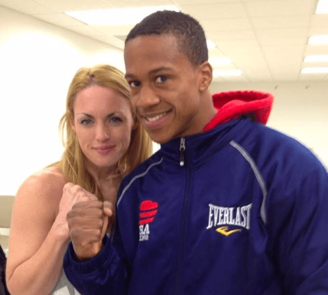 Heather Hardy, left, with the late Patrick Day, who passed away at age 27, on Oct. 16, 2019.