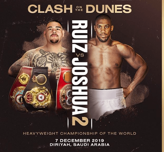 Andy Ruiz seeks to show the first win over AJ wasn't a fluke.