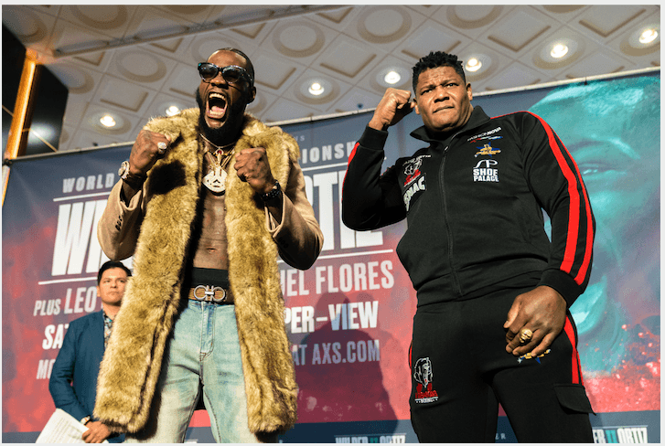 Deontay Wilder and Luis Ortiz at MGM four days before fight night, in Vegas.