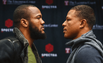 Julian Williams and Jeison Rosario look inside each others' souls.