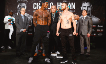 Jermall Charlo meets Dennis Hogan to defend his WBC middleweight crown Dec. 7 on Showtime.