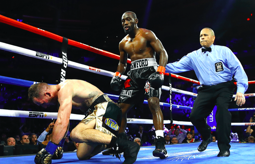 Crawford started slow but then the nastiness kicked in, at MSG on Dec. 14. (Mikey Williams picture for Top Rank)