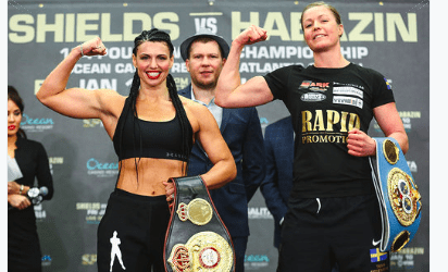 Alicia Napoleon Espinoza (left) could maybe fight Shields, if she keeps winning, and downs Elin Cederroos in AC.