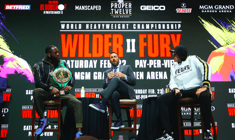 Tyson Fury and Deontay Wilder went back and forth at the final main event press conference before their Feb. 22 rematch.