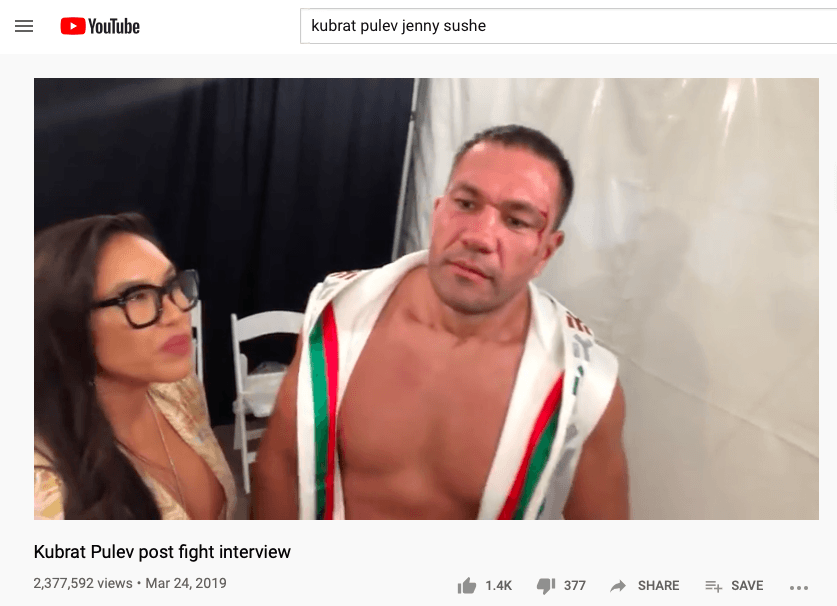 Kubrat Pulev got in hot water for this interview, with Jenny Sushe, in March 2019.
