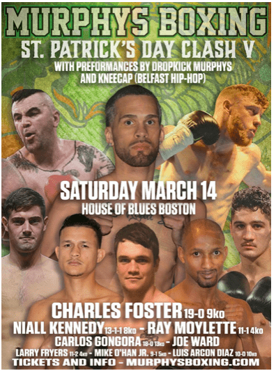 Murphys Boxing runs their Fifth Annual St. Patrick's Day bash, at House of Blues, in Boston, Mass. on March 14, 20202.