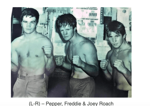 Pepper Roach, Freddie Roach and Joey Roach, from New England's most famous fighting family.