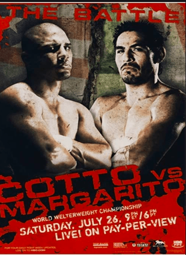 Margarito pummeled Cotto and Puerto Rican boxing fans were weepy that night.