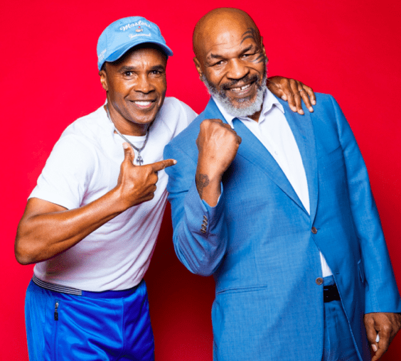 """Mike Tyson had Sugar Ray Leonard on his """"Hotboxin'"""" podcast."""