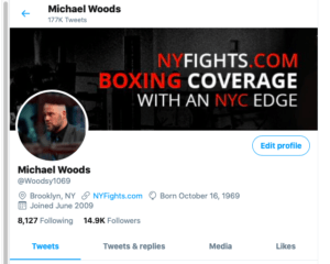 NY Fights publisher Michael Woods is @Woodsy169 on Twitter.