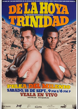 De La Hoya was a mega star, coming off wins over Chavez, Quartey and Oba Carr. Trinidad handed him his first pro loss.