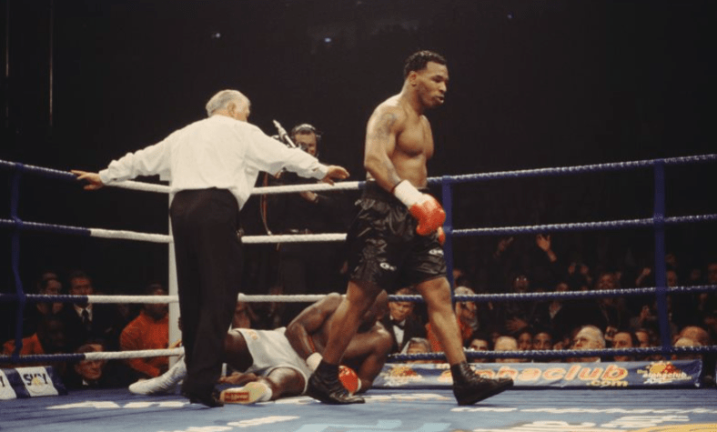 The power of Mike Tyson was legendary. Here, he left Julius Francis dazed and confused.