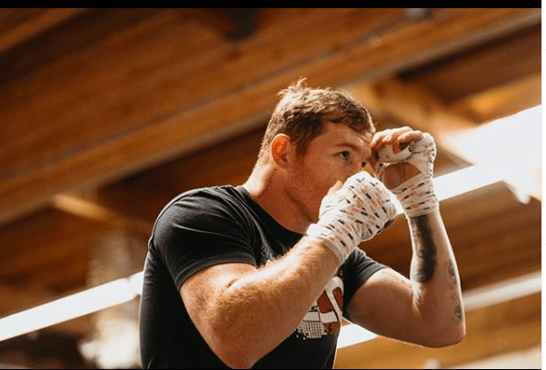 Canelo Alvarez getting ready for a bout. He may be the best fighter in boxing, circa 2020