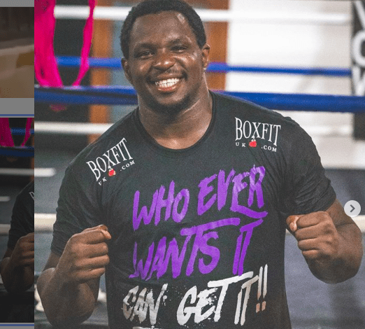 Dillian Whyte readies for his fight with ALEXANDER POVETKIN.