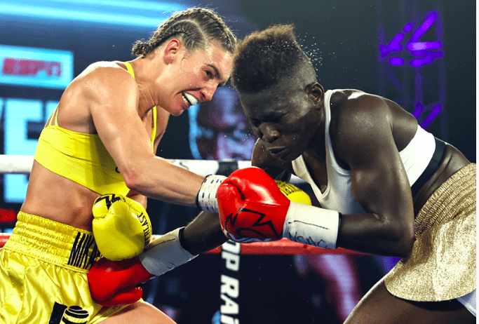 Mikaela Mayer landed time and again on Helen Joseph at MGM, on July 14, 2020.