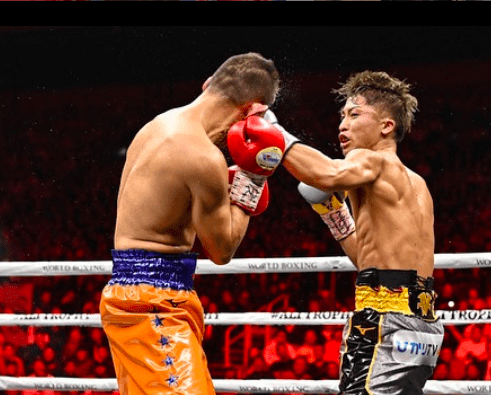 Naoya Inoue lands a left hook on Nonito Donaire.