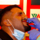 Agit Kabayel gets a nasal swab test, so he can engage in a fight with Evgenios Lazaridis in Germany.