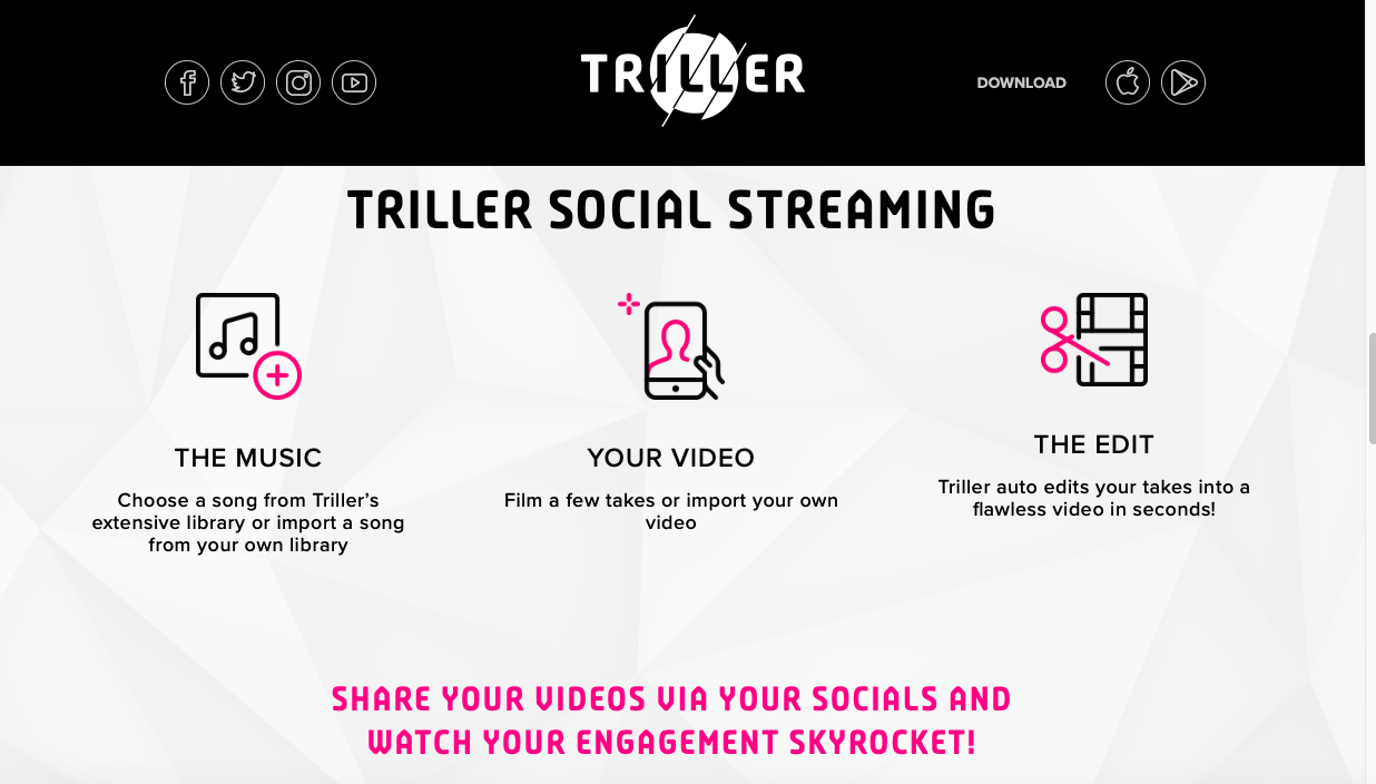 Triller is positioned to be a rival that tries to over-take TikTok.