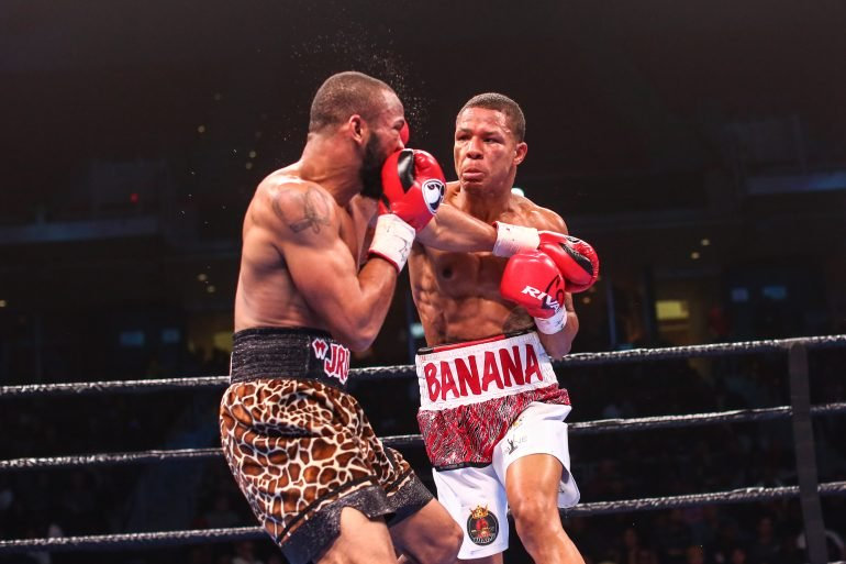 Jeison Rosario holds a 20-1-1 mark, and the WBA, IBF, and IBO 154 straps...for now.