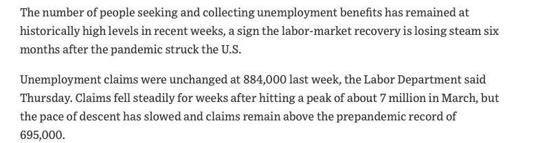 The coronavirus did a number on employment levels in the United States.