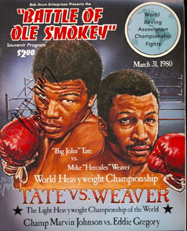 John Tate had things in order, until Mike Weaver dropped an anvil on his head late, on March 31, 1980.
