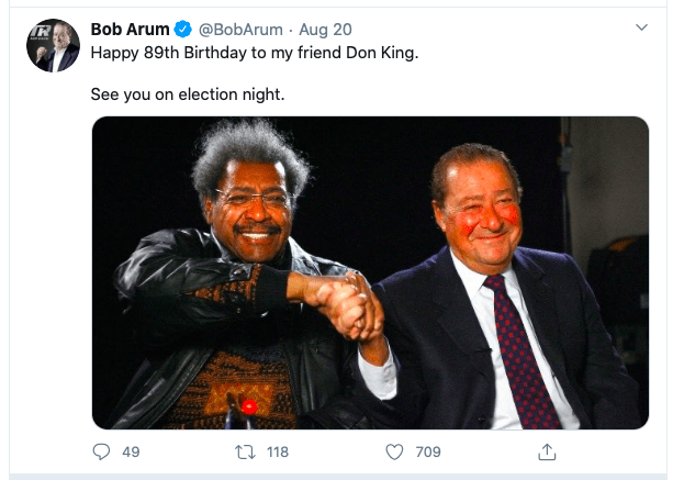 Don King and Bob Arum used to spar worse than Trump and Nancy Pelosi.