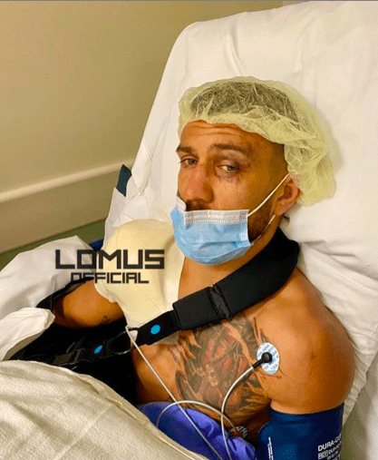 Vasiliy Lomachenko had shoulder surgery days after losing to Teofimo Lopez on Oct. 17, 2020 in Las Vegas.