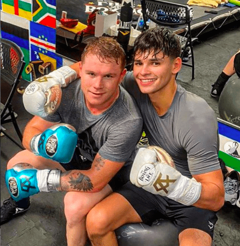 Canelo Alvarez and Ryan Garcia seem to be getting on well in camp, as both ready for December fights.