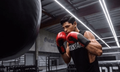 Ryan Garcia getting ready for his Dec. 5 fight against Luke Campbell.