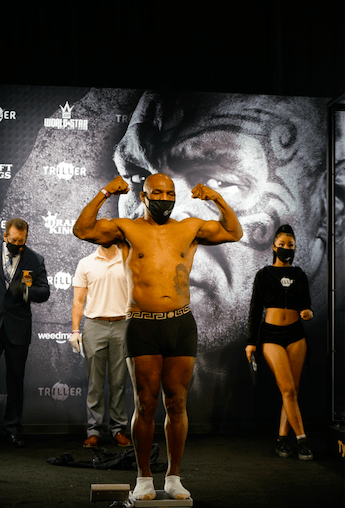 Mike Tyson weighed in at 224 pounds for his Nov. 28, 2020 exhibition versus Roy Jones.
