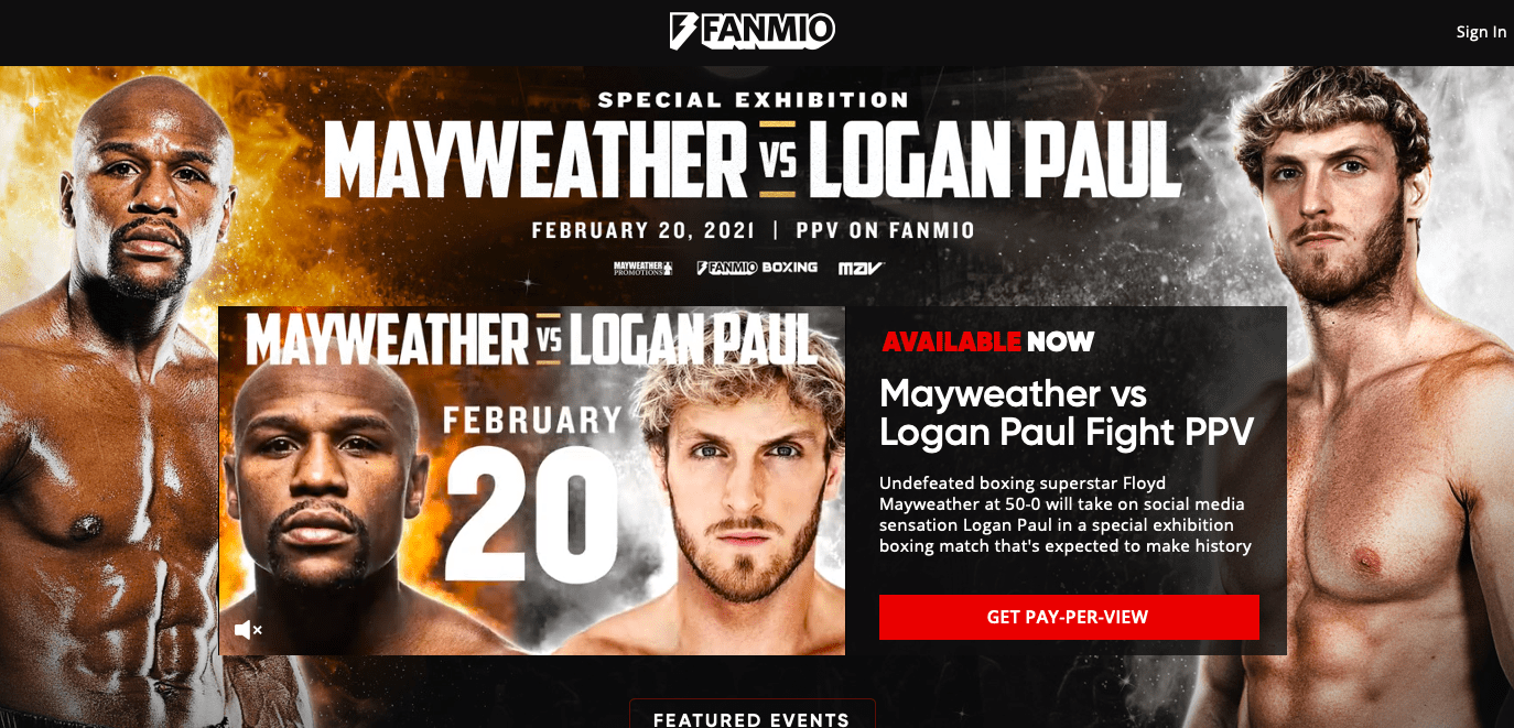 Floyd Mayweather is supposed to fight Logan Paul on Feb. 20, 2021, site TBA.