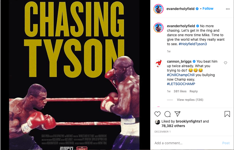 Evander Holyfield wants a third fight with Mike Tyson, though this one would be an exhibition.