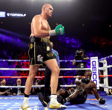 Tyson Fury beat down Deontay Wilder in February 2020 and that stands out as one of THE moments to remember in 2020.
