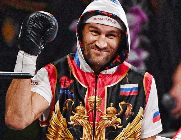 Sergey Kovalev in the ring for his 2019 fight against Canelo Alvarez.