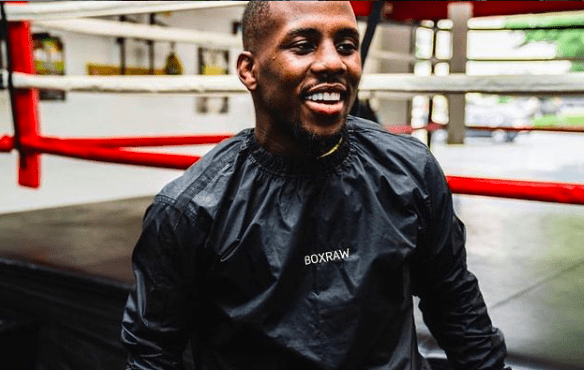 Fighter Tevin Farmer in the gym getting ready for his next fight date.