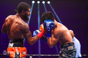 Stephen Fulton lands a right uppercut during his Jan. 23 win over 122 lb champ Angelo Leo on Showtime.