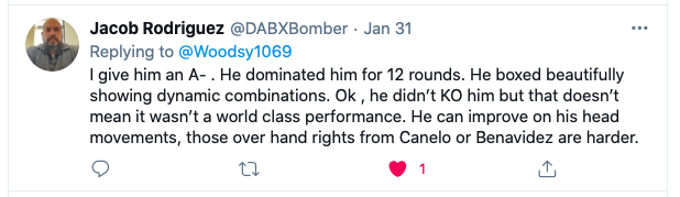 Jacob Rodriguez gives Caleb Plant a grade for his effort on Jan. 30, 2021.